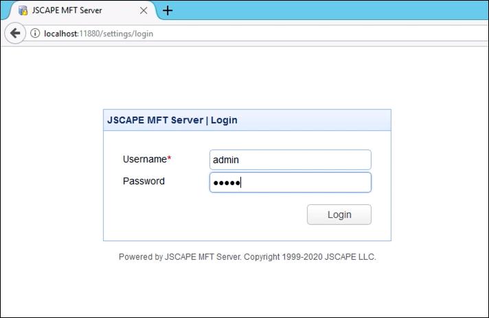 login mft server at new windows host