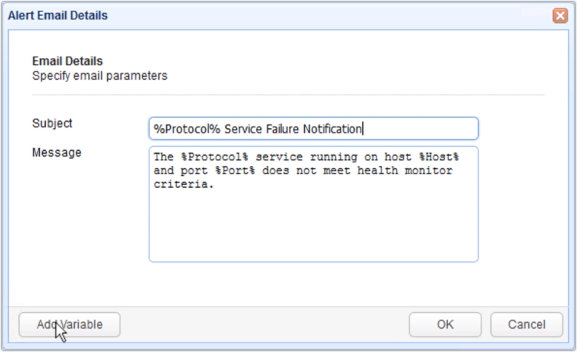 mft gateway health monitor alert email details