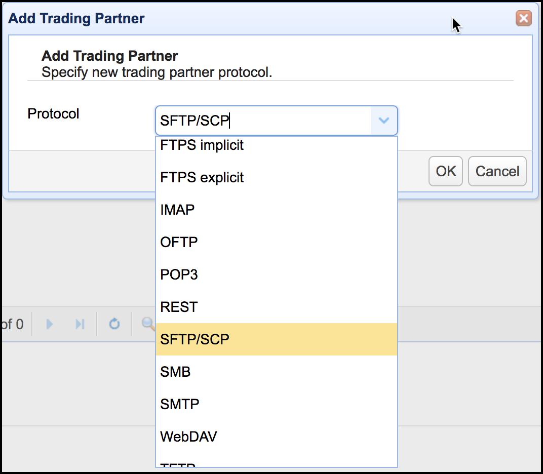 mft server 11-1 add trading partner sftp scp