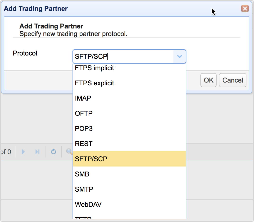 mft server 11-1 add trading partner sftp scp