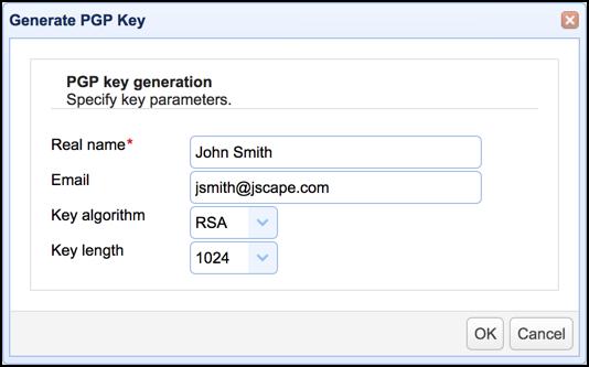 mft server generate pgp key