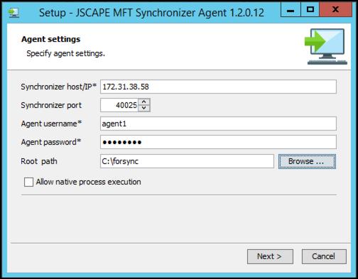 mft synchronizer agent in windows 12