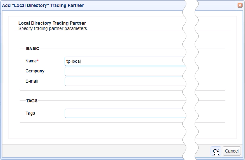 mirror ftp to s3 - trading partner local directory parameters