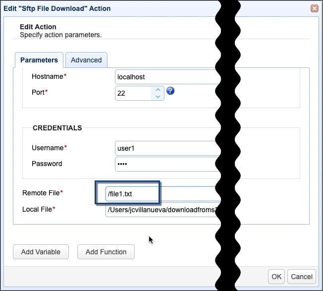 modified remote file in sftp file download