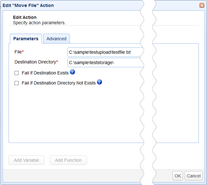 move file action parameters