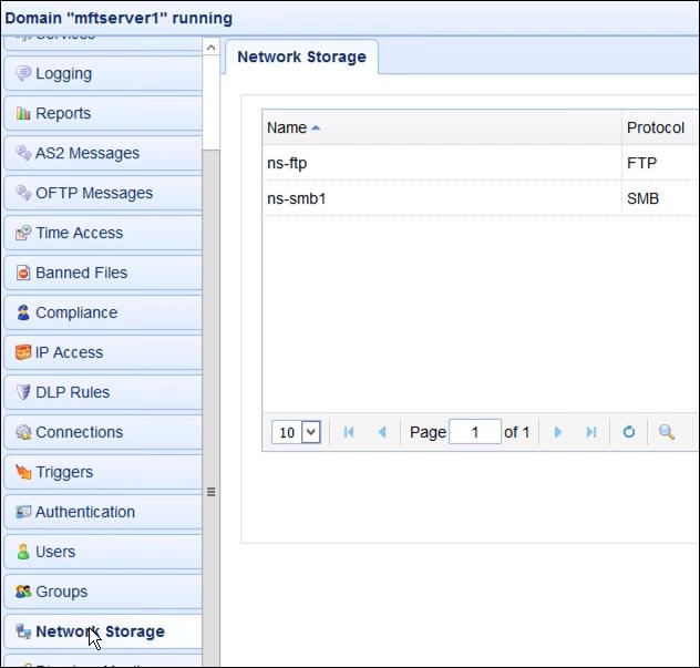 network storage on mft server