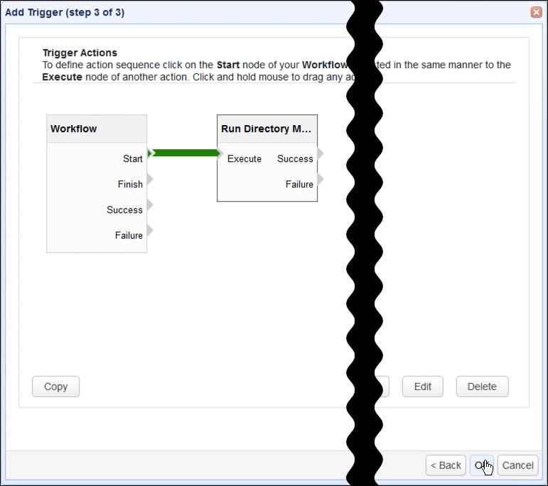 new run directory monitor action