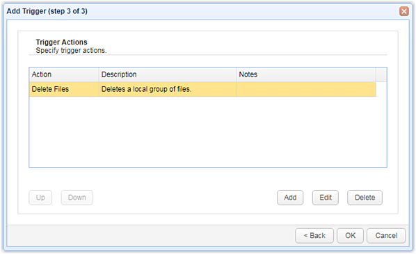 Using Triggers to Automate File Deletion