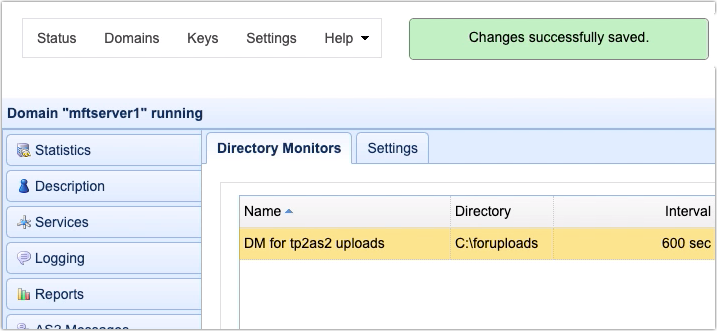 newly added directory monitor for automated as2