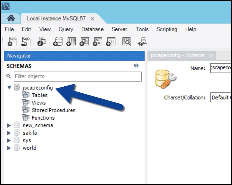 newly created database on mysql-1