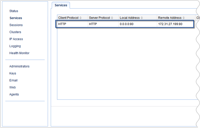 newly created http http reverse proxy