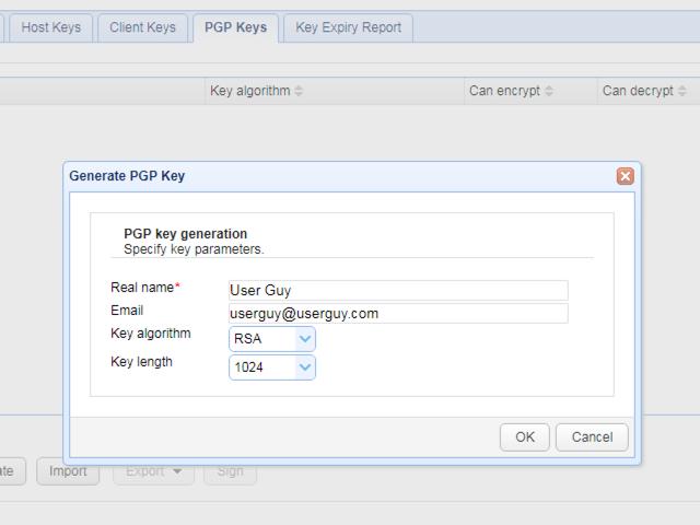 open pgp keys generation