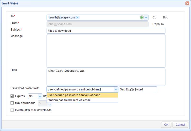 password protect ad hoc email
