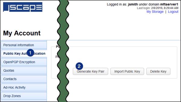 public key authentication generate key pair