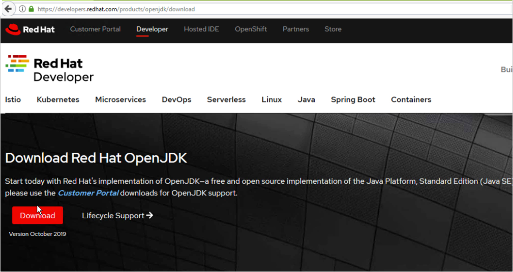 red hat openjdk download page