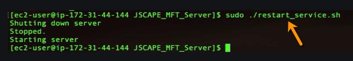 restart mft server