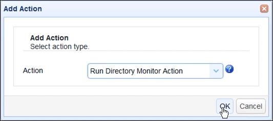 run directory monitor action