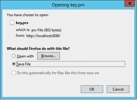 save private key file prv