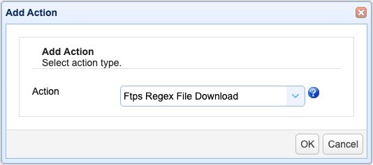 scheduling automated file transfers for files matching a regex 08
