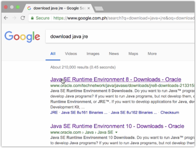 search java download page
