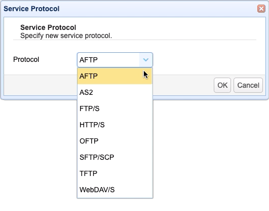 select aftp service protocol