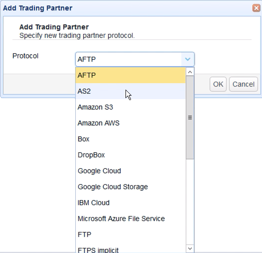 select as2 trading partner