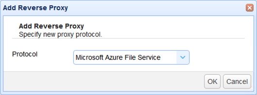 select azure file share as reverse proxy service