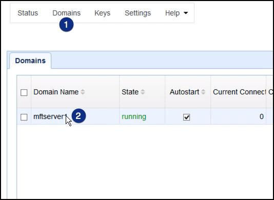 select domains