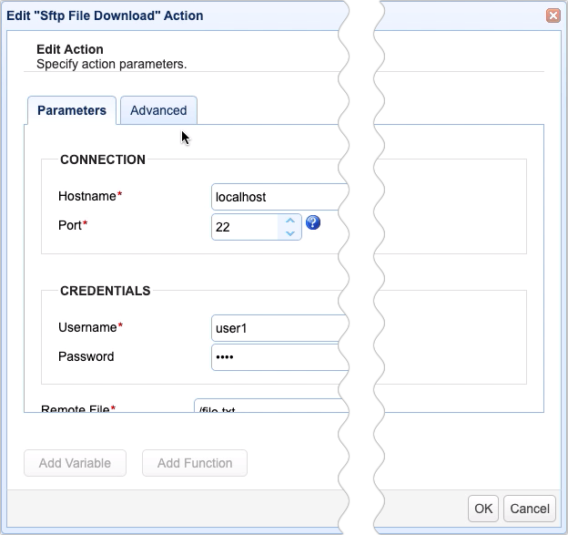 sftp file download action 1
