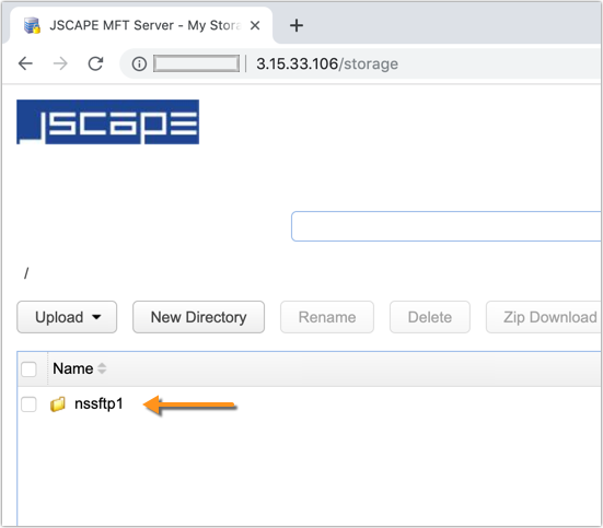 sftp network storage from user account