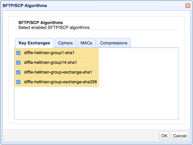 sftp scp algorithms