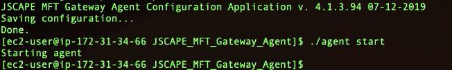 start mft gateway agent linux