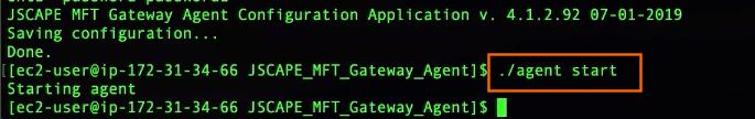 start mft gateway agent