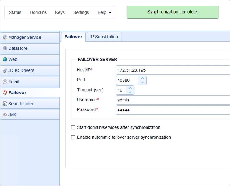 sycnhronization complete mft server