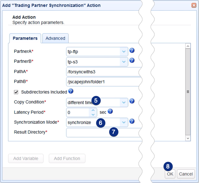 sync remote ftp to s3 - trading partner synchronization parameters 2