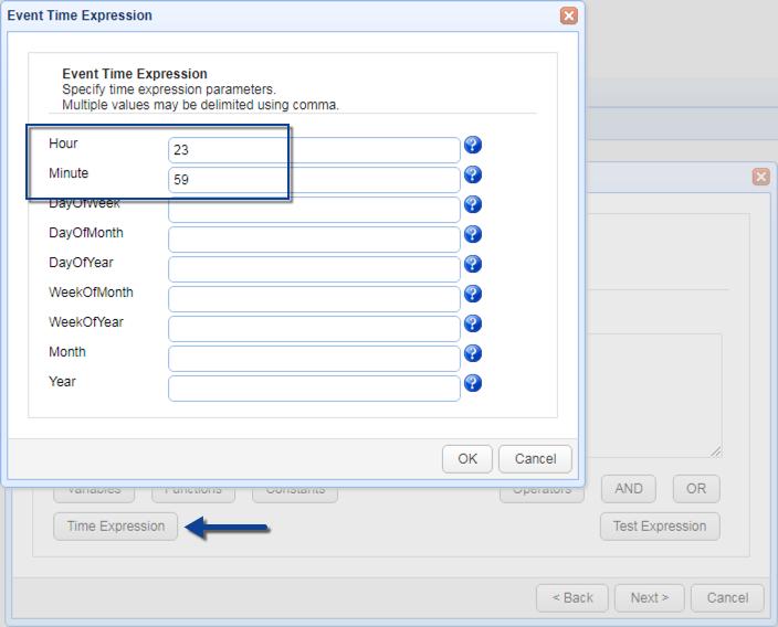 time expression server configuration backup
