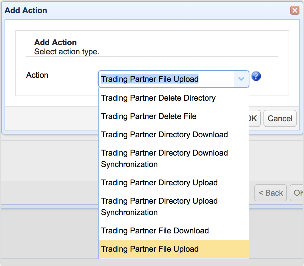 trading partner action mft server 11-1