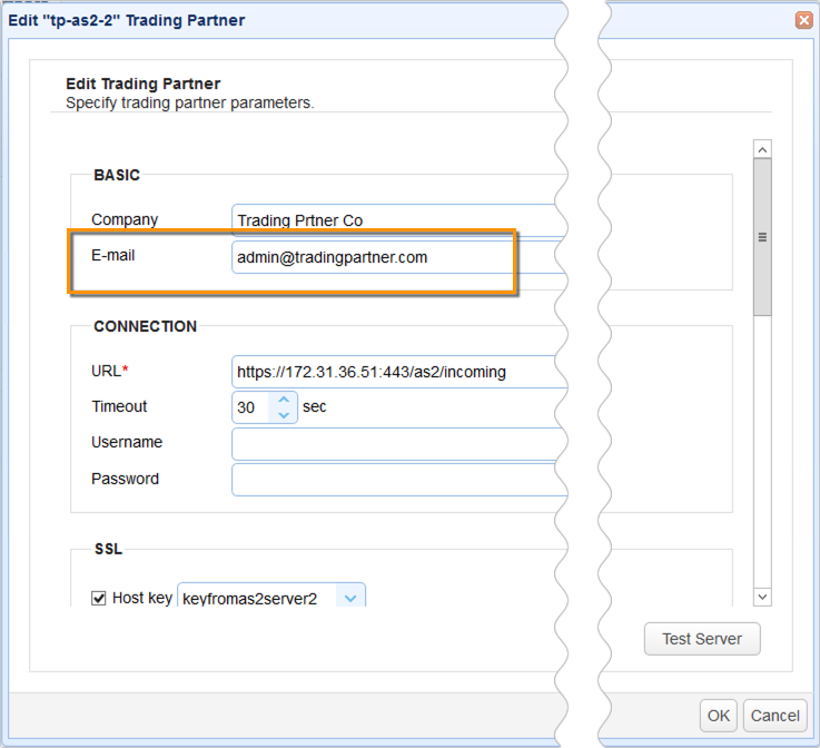 trading partner email address