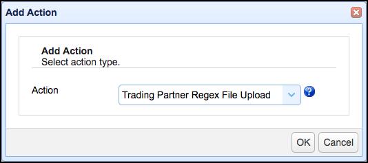 trading partner regex file upload