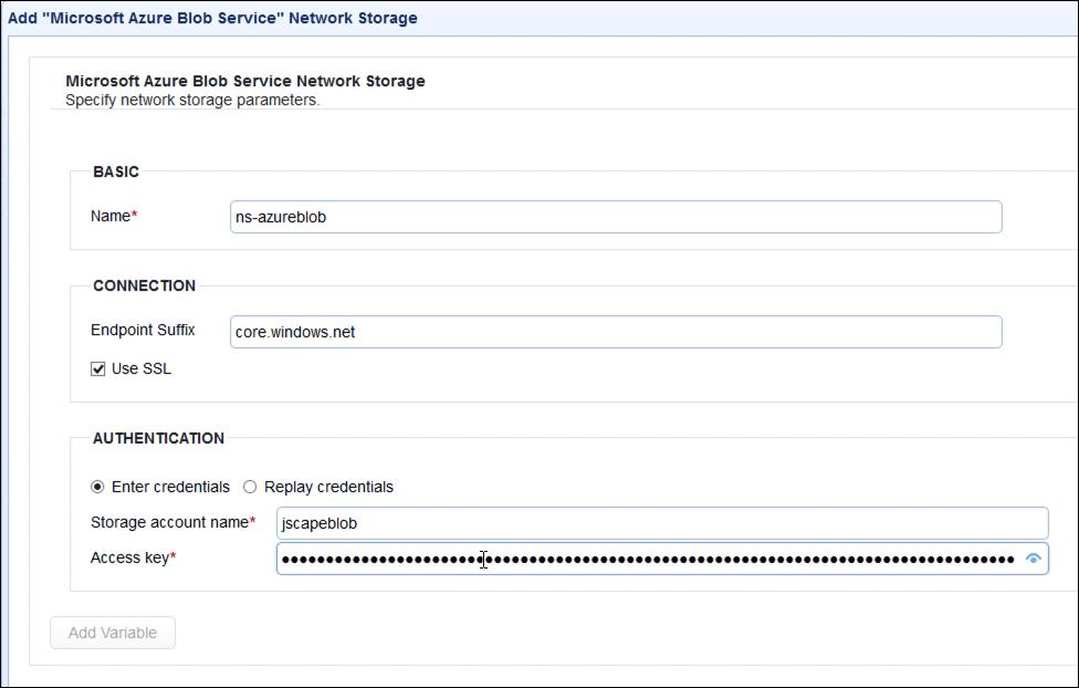 upload files to azure blog storage via ftp - azure blob storage parameters