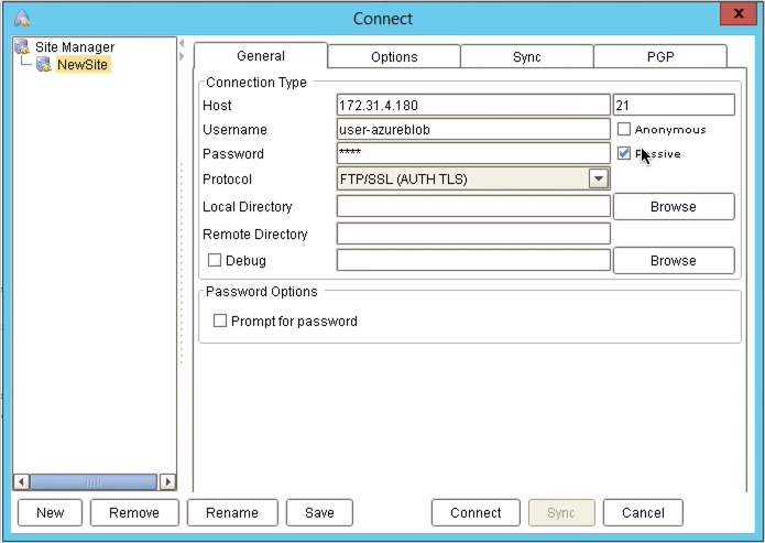 upload files to azure blog storage via ftp - ftp client