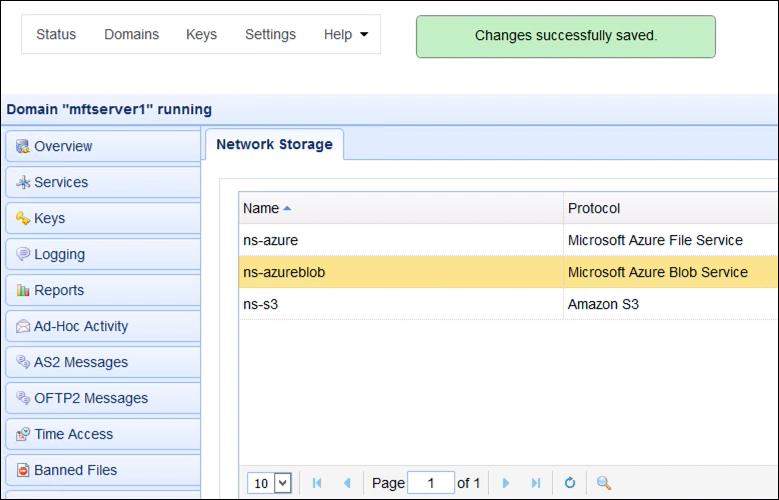 upload files to azure blog storage via ftp - newly created network storage
