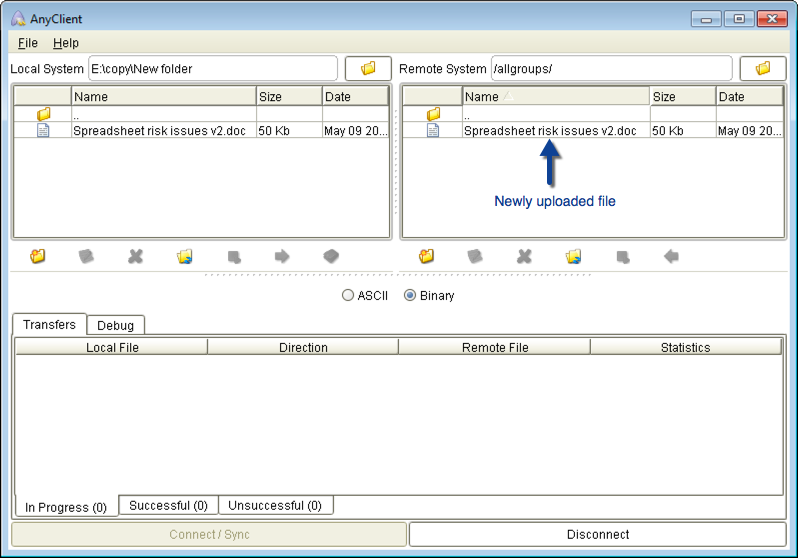 uploaded file danika mft server