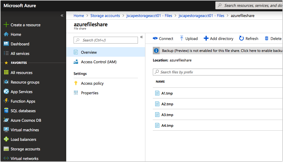 uploaded files in azure