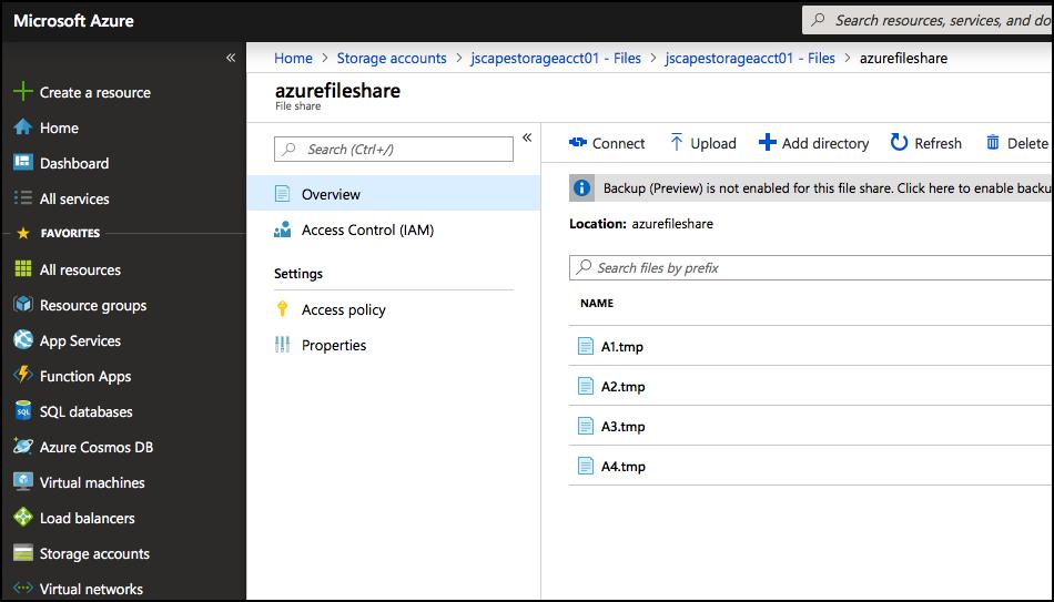 uploaded files in azure