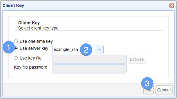 use server key for client key