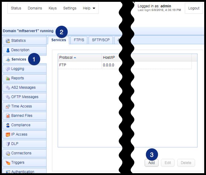 web file transfer add http service