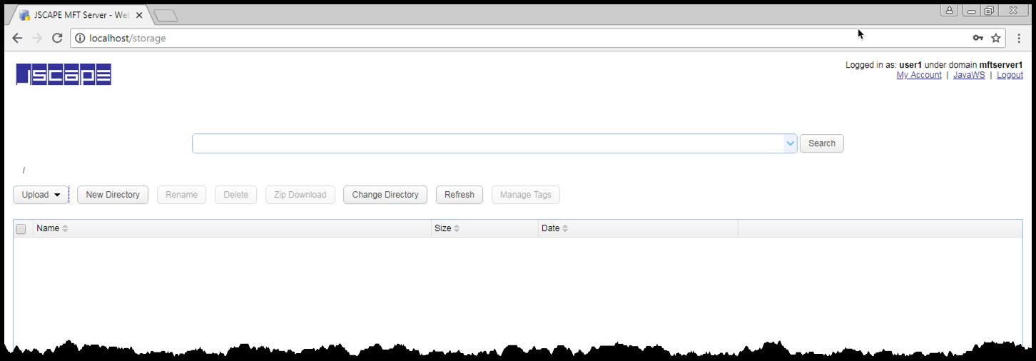 web file transfer logged in user
