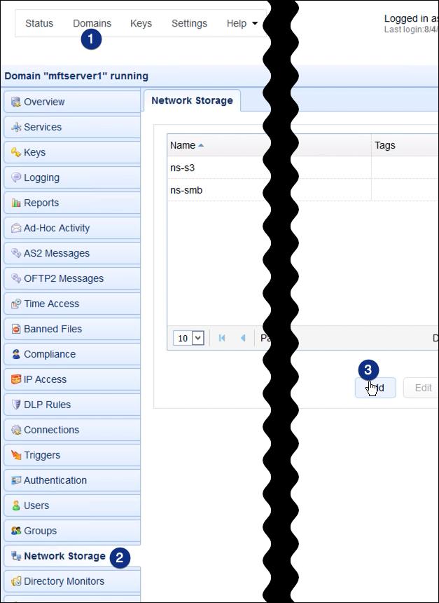 webdav network storage add