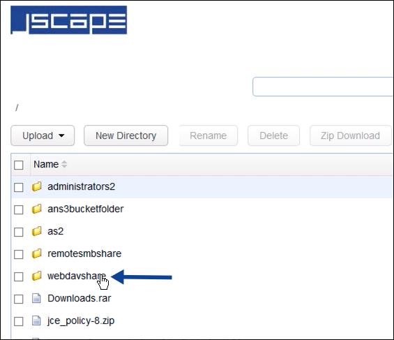 webdav network storage folder